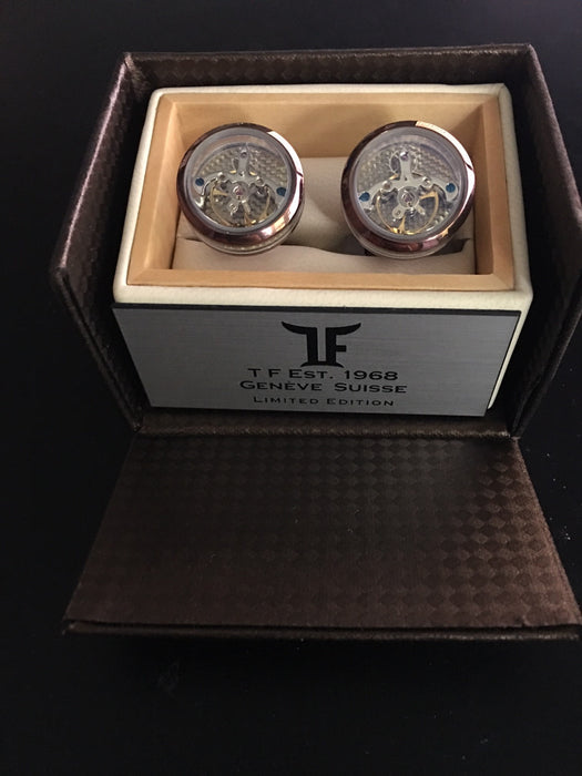 TF Est. 1968 Open-Side Tourbillon cufflinks CTO-PC08