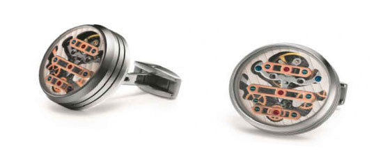 TF Est. 1968 3-Bridge Tourbillon cufflinks C3B-SS00