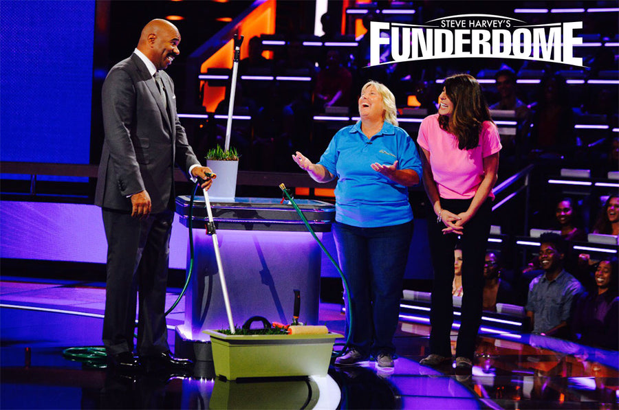 As Seen On <br> ABC's Funderdome Starring Steve Harvey <br>If you have a hose, you need a <br>Hose Hooker!