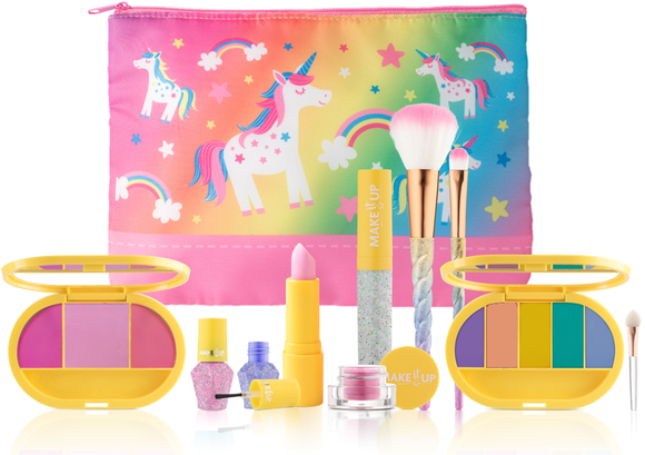 Make it Up Unicorn Collection - Washable - Non Toxic - Safe Makeup Set for Children