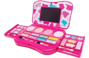 My Laptop Girls Makeup Set by Fold Out Makeup Palette with Mirror and Secure Close