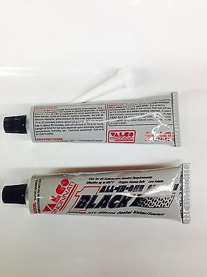 Valco Cincinnati All-in-One Silicone-BLACK-Lot of 12 -3oz tubes- Gasket Sealant