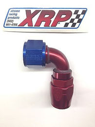 XRP 209012 Double Swivel Aluminum Hose End -12/12AN 90° Fuel/Water/Oil fitting