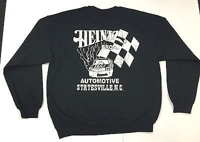 Heintz Brothers Automotive Vintage Racing Sweatshirt-Crewneck-Black-M,L, XL,XXL