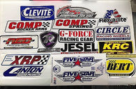 Large Racing Decals-Lot of 15-Comp, KRC, Jesel, ARP, AED, Canton, XRP