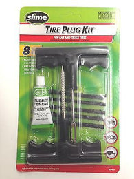 SLIME 1034-A Tire Plug Kit for Car & Truck Tires-8 piece Rubber Cement  Plug Kit
