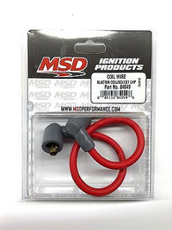 MSD 84049 Blaster Ignition Coil Wire-Socket Style-8.5mm 90° boots-Red