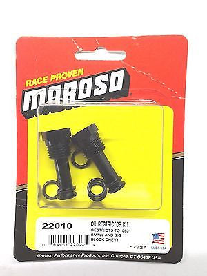 MOROSO 22010 Oil Galley Restrictors for Small/Big Block Chevy-restricts to .060