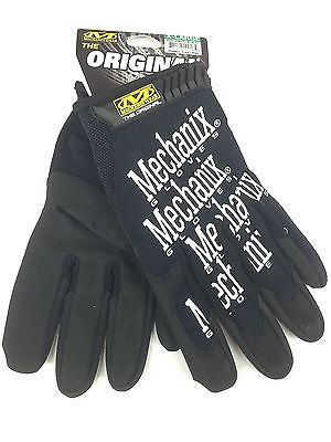 Mechanix Wear Gloves-XL Black-MG-05-011 Mechanic gloves Synthetic Leather-NEW
