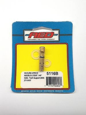 AED 5116B Bottom Feed Hi-Flow Needle & Seat assembly-Holley Carburetor .140