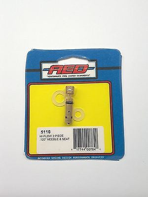AED 5116 Bottom Feed Hi-Flow Needle & Seat assembly-Holley Carburetor .120