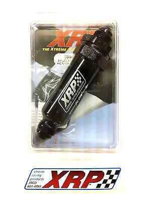 XRP 704408FS40 -8an Inline Fuel/Oil Filter #40 Micron Screen- Viton/EPR O-rings