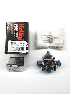 Holley 12-803 Fuel Pressure Regulator-2 Port Adjustable- 4.5-9 PSI-Chrome Finish