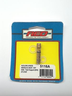 AED 5116A Bottom Feed Hi-Flow Needle & Seat assembly-Holley Carburetor .130