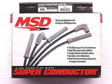 MSD 35603 BB Chevy w/ HEI Tower Cap Spark Plug Wires-Super Conductor 8.5mm-BLACK