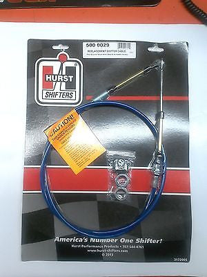 HURST 5000029 5ft Shifter Cable w/ double eyelet ends for Quarter Stick