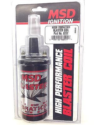 MSD 8222 MSD Ignition High Vibration Blaster Coil-Marine, Off Road 45,000V  -NEW