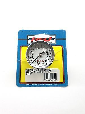 AED 6102 Analog White Face Fuel Pressure gauge-1.5