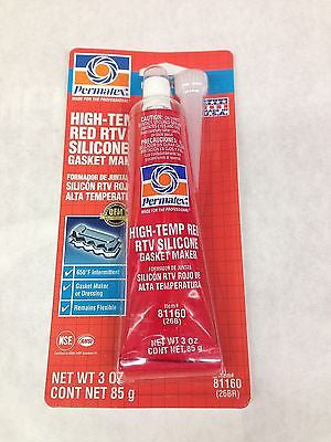 Permatex 81160 High-Temp Red RTV Silicone Gasket Maker 3oz/85g - LOT OF 10