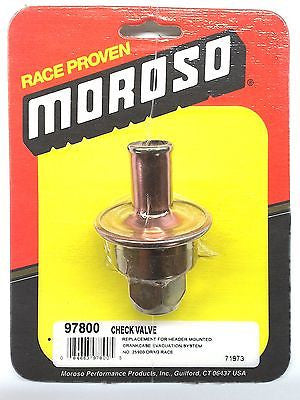 MOROSO 97800 Check Valve-Replacement Crank case Evacuation Valve-25900 Drag Race