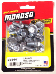 Moroso 38560 Self-Locking Oil Pan Bolts Big Block Chevy & Pontiac V8