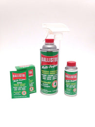 Ballistol Multi Purpose Oil-Lubricant Gun Cleaner- 16oz & 4oz & Box of 10 wipes