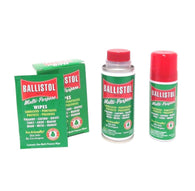 Ballistol Multi Purpose Oil-Lubricant Gun Cleaner-4oz & 1.5oz & Box of 10 wipes