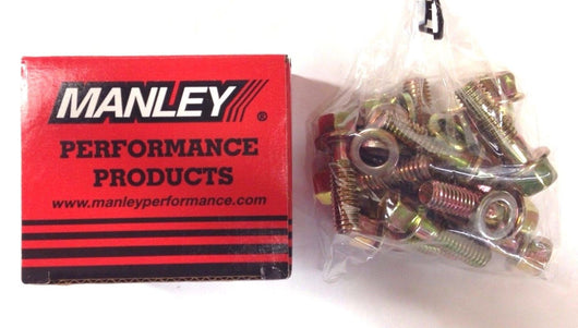 Manley 42176 Intake Manifold Bolts, Hex Head, Chevy, Small Block