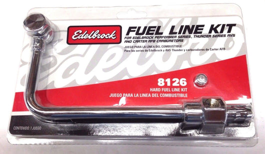 Edelbrock 8126 Carburetor Single Feed Fuel Line Kits, 3/8 in. Hose Barb Inlet