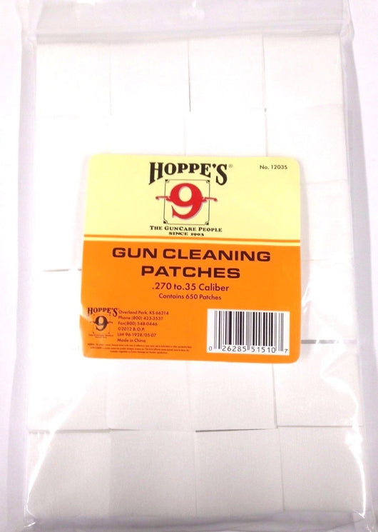 Hoppe's No. 9 Gun Cleaning Patches for .270-.35 Caliber (650 Pack)