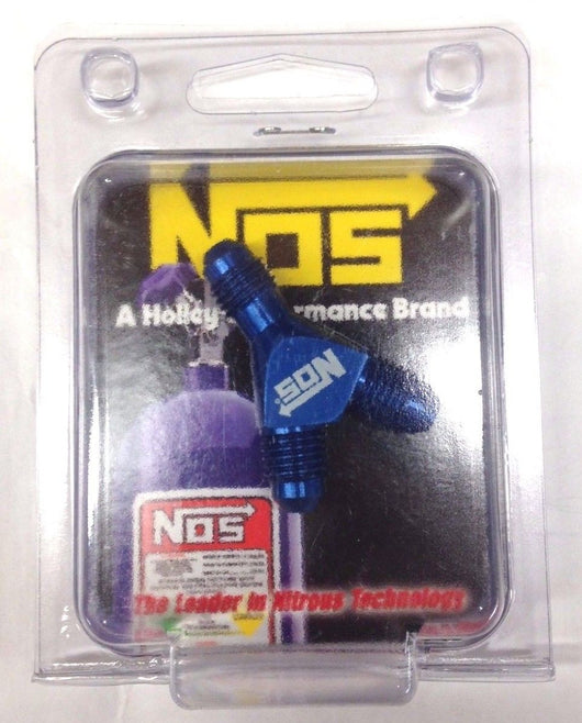 NOS 17830 High Flow Y-Fittings, 4AN, Blue Anodized