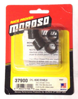Moroso 37900 Offset Cylinder Head Dowels 0.030 in., Chevy BB, Chrysler BB, 4/pkg