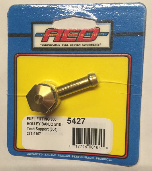 AED 5427 Fuel Bowl Fittings 600 Holley Banjo - NEW