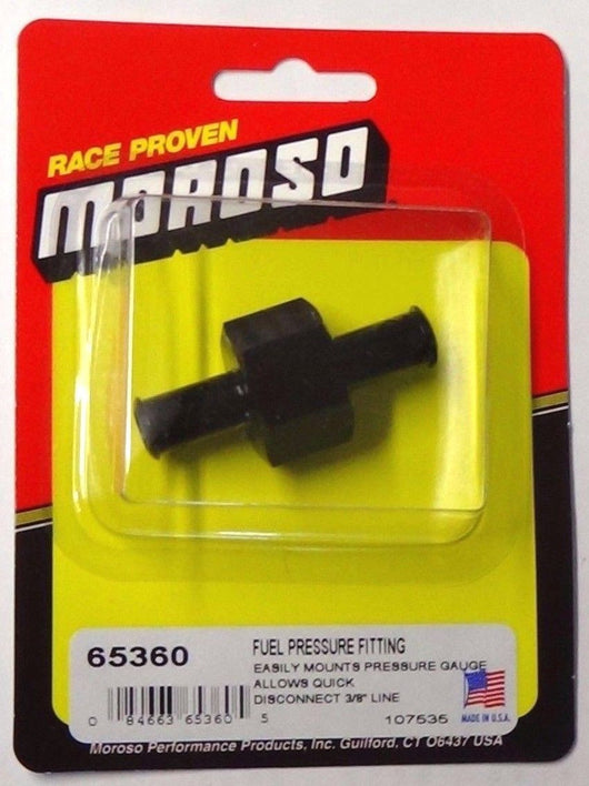 Moroso 65360 1/8'' NPT Fuel Pressure Gauge Fitting 3/8
