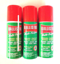 Ballistol Multi Purpose Oil-Lubricant Gun Cleaner - LOT OF 3-1.5 oz Aerosol Can