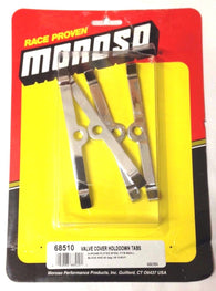 Moroso 68510 Valve Cover Hold Down Tabs, Chevy, Small Block V8/V6, Set of 4