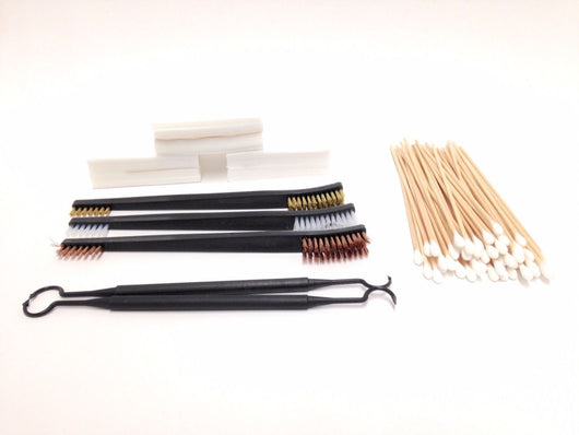 Gun Cleaning Kit 12 Gauge, Gun Lovers - Brush & Pick set, Patches, Swabs