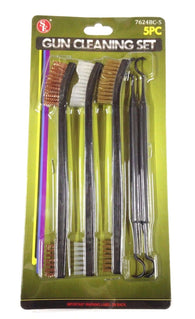 SE 7624BC-5 Gun Cleaning Set with 3 Brushes & 2 Double-Ended Picks (5PC Total)