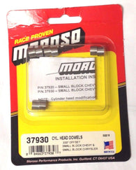 Moroso 37930 Offset Cylinder Head Dowels .030 in. Chevy SB, Chrysler SB, 4/pkg.