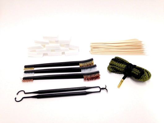 Gun Cleaning Kit .38 Calliber, Gun Lovers - Bore Snake, Patches, Swabs