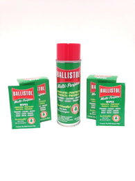 Ballistol MultiPurpose Oil-Lubricant Gun Cleaner-6oz Aerosol & 2-Box of 10 wipes