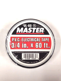Master UL-60 P.V.C. Electrical Tape, 3/4 in. x 60ft. 10/pkg