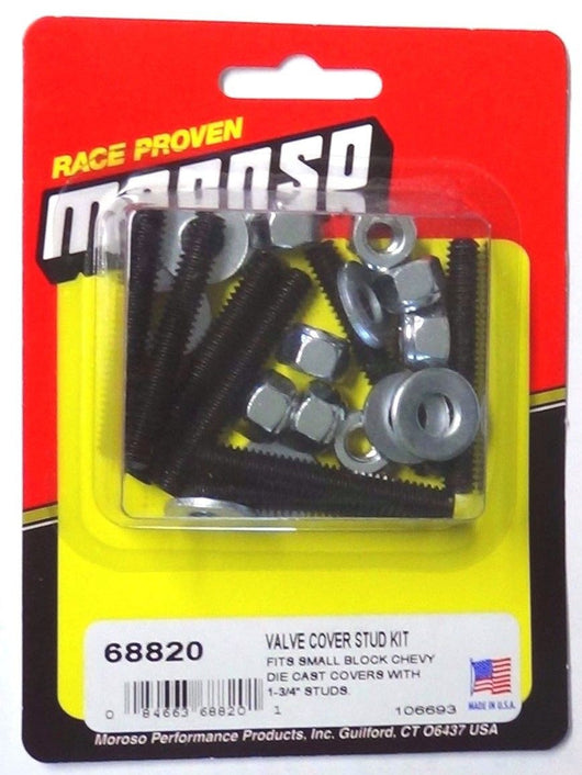 Moroso 68820 Valve Cover Stud Kit 1/4