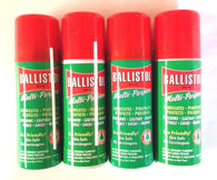 Ballistol Multi Purpose Oil-Lubricant Gun Cleaner - LOT OF 4-1.5 oz Aerosol Can