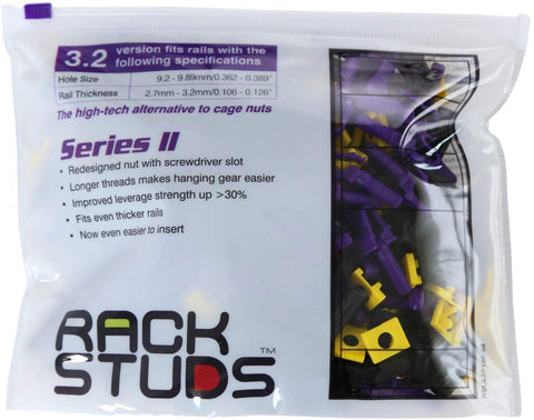 Rackstuds Rack SERIES II Mounting System - PURPLE 2.7mm - 3.2mm  EASY INSTALL