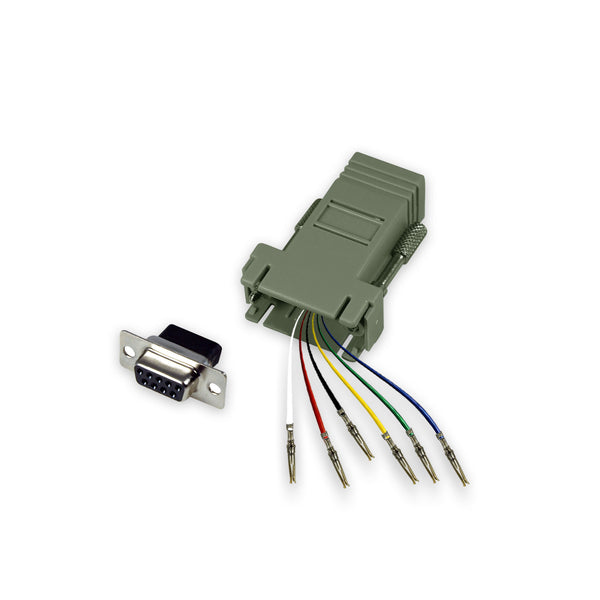 Modular Adapter Kit - DB9 Female to RJ12 Female - 6 Conductor - GRANDMAX.com