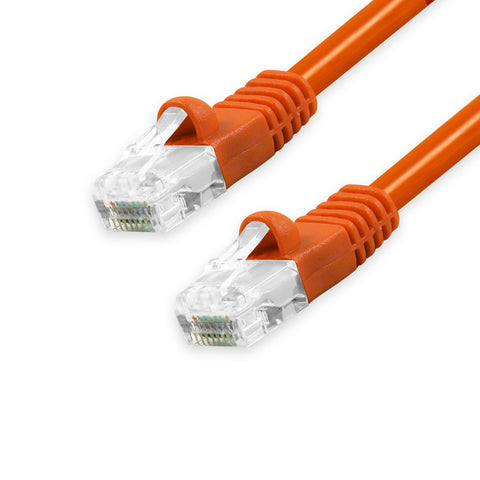 CAT5e Unshielded Twisted Pair (UTP) Ethernet Patch Cable, Bubble Boot