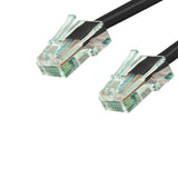 Cat6 Plenum Patch Cable No Boot (100ft or More) - Black GRANDMAX.com