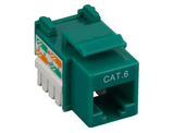 Cat6 Punch Down Keystone Jack - Green - GRANDMAX.com