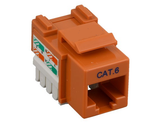 Cat6 Punch Down Keystone Jack - Orange - GRANDMAX.com